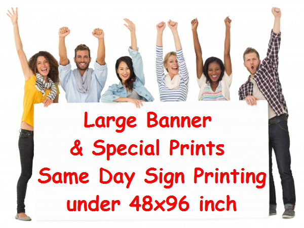 Large Sign up to 60 x 120 inch